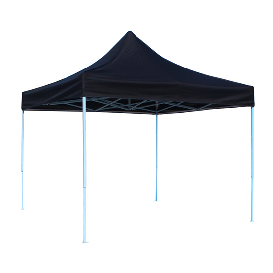 Black Color Custom Pop Up Gazebo Tent With Branded Logo
