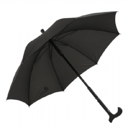 Black Walking Stick Umbrella 2 in 1 Combination