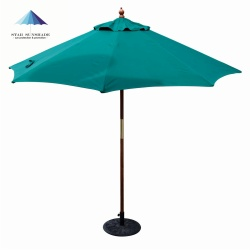 wholesale wooden garden umbrella for outdoor