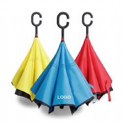 Creative inverted double layer umbrella windproof upside down straight umbrella