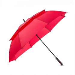 Promotional advertising Budget branded auto fiber-glass frame golf umbrella with eva foam handle
