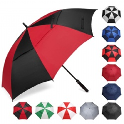 Golf Umbrella 68/62/58 Inches Large Oversize Double Canopy Vented Automatic Open Stick Umbrellas for Men and Women