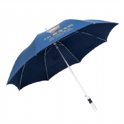 Aluminum Construction Men Stick Promotional Umbrella