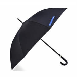 Auto Open 100% Fiberglass Stick Umbrella with Stylish J-Hook Handle