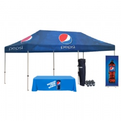 10ftx20ft Custom Tent With Flags Banners,3mx6m Custom Folding Gazebo With Roll Up Banner