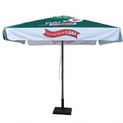 Square Canopy Central Pole Patio Umbrella Parasol