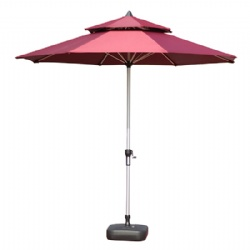 Aluminum Pool Garden Umbrella With Air Vent