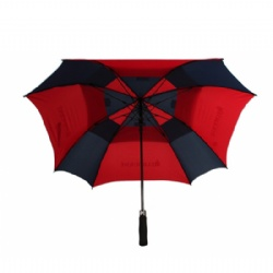 Advertising Vented Square Sport Golf Umbrella With Branded Logo