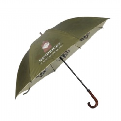 Customized Deluxe High End Double Canopy Golf Umbrella With Gentle Wood Handle