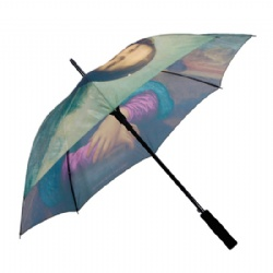wholesale Custom full printing straight golf umbrella