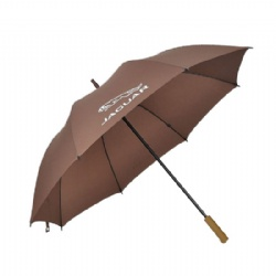 Brown manual opening golf umbrella